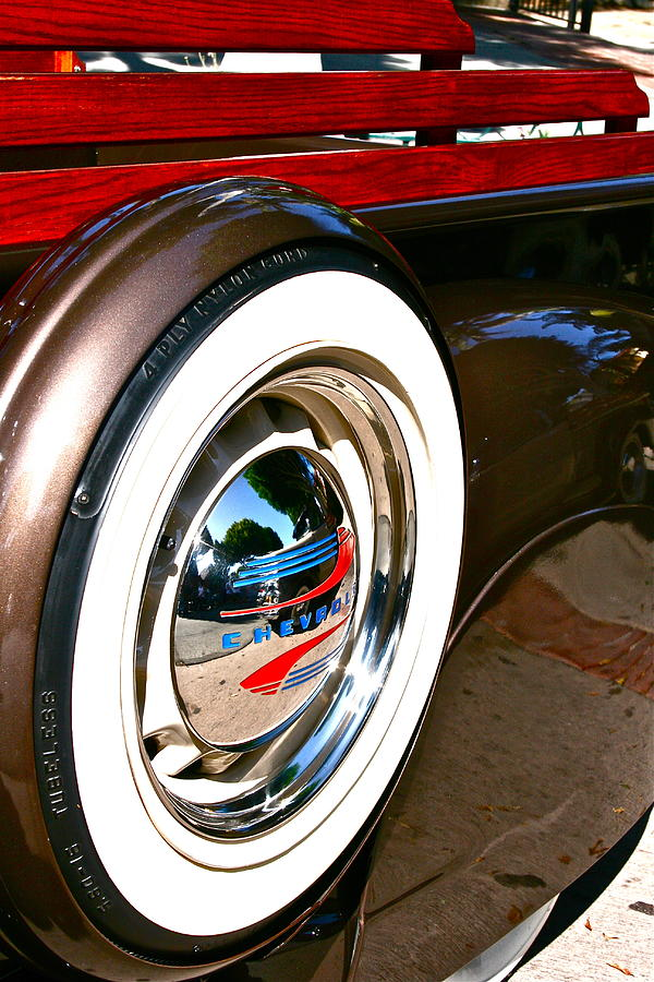 Tire Photograph - White Wall by Gwyn Newcombe