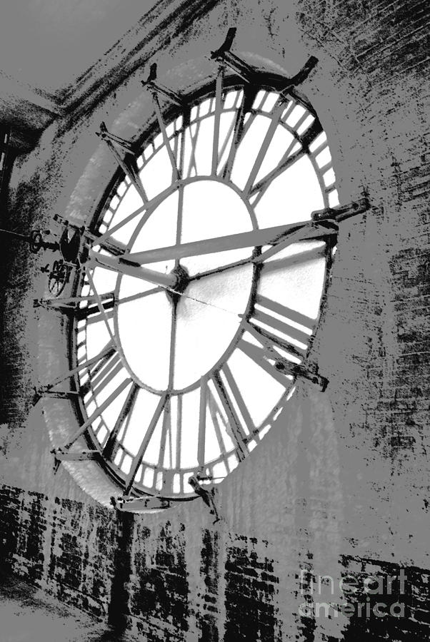 Clock Photograph - White Wash Time by Jost Houk