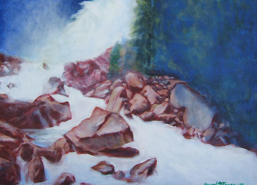 Landscape Painting - White Water And Solid Rock by Howard Stroman