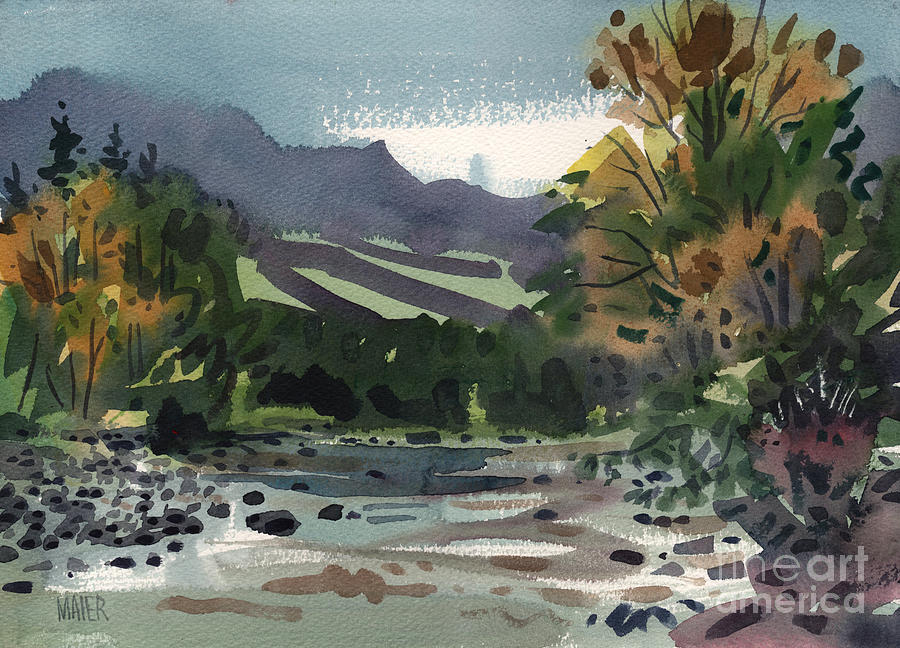 White River Painting - White Water On The White River by Donald Maier
