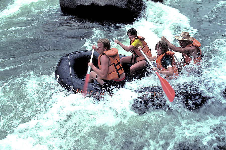 Rubber Photograph - White Water Rafting by Carl Purcell