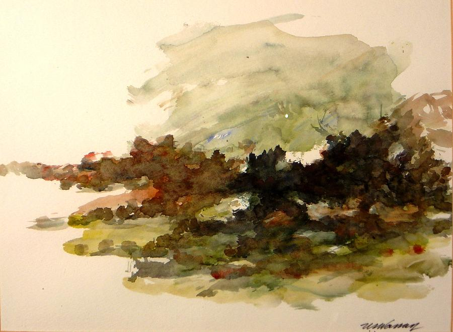 Landscape Painting - White Water by Ujjagar Singh Wassan