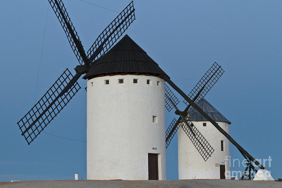 White Windmills Photograph