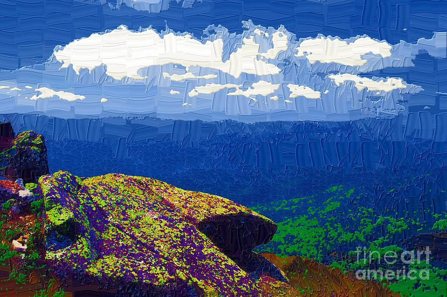 Diane Berry Painting - Whiteface Mountain View by Diane E Berry