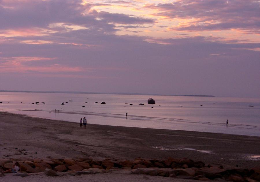 Sunset Photograph - Whitehorse Beach - Sunset by Nancy Ferrier