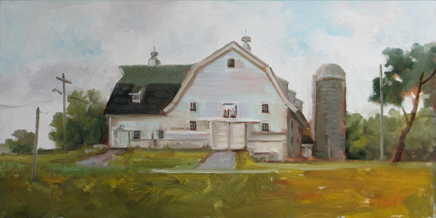 Dairy Barn Painting - Whitehouse Dairy Barn by Nora Sallows