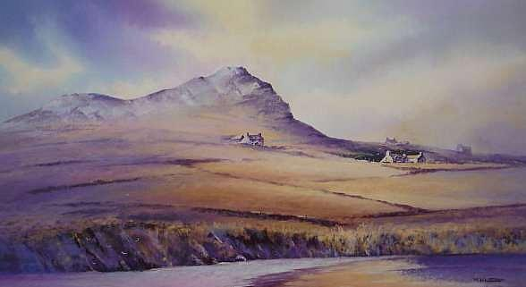 Pembrokeshire Painting - Whitesand Bay Pembrokeshire by Mark Whittaker