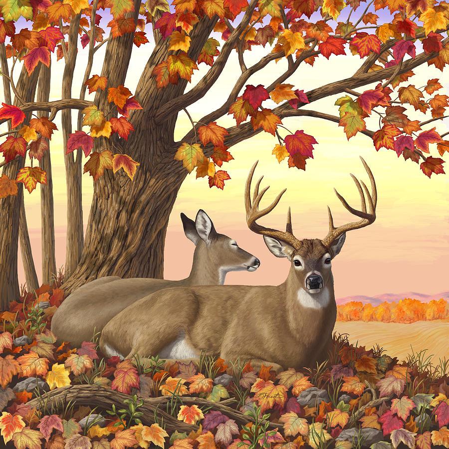 Deer Digital Art - Whitetail Deer - Hilltop Retreat by Crista Forest