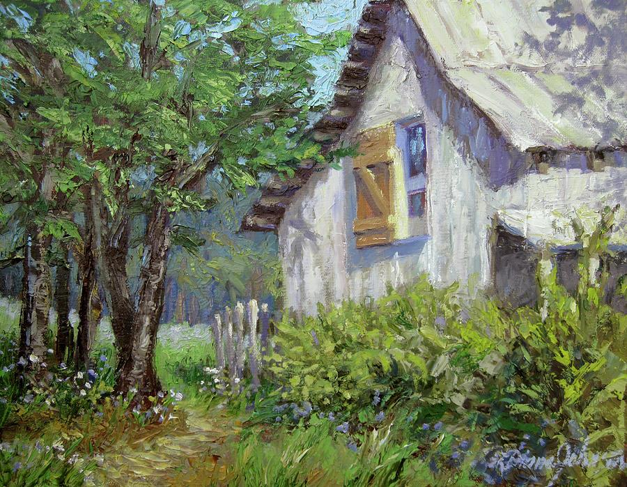 Old Barn Painting - Whitewash by L Diane Johnson