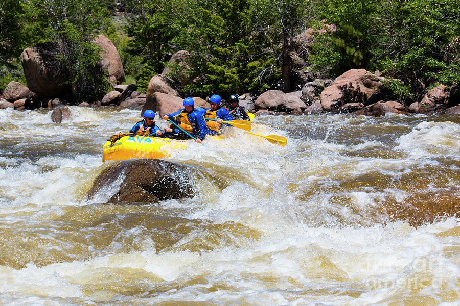 Whitewater Rafting The Arkansas River Photograph