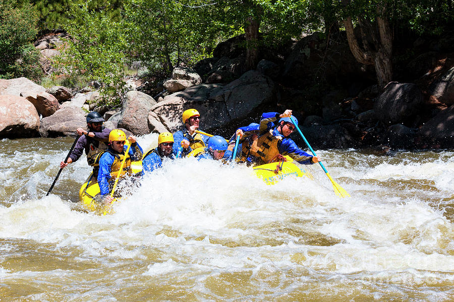 Whitewater Rafting The Numbers Photograph