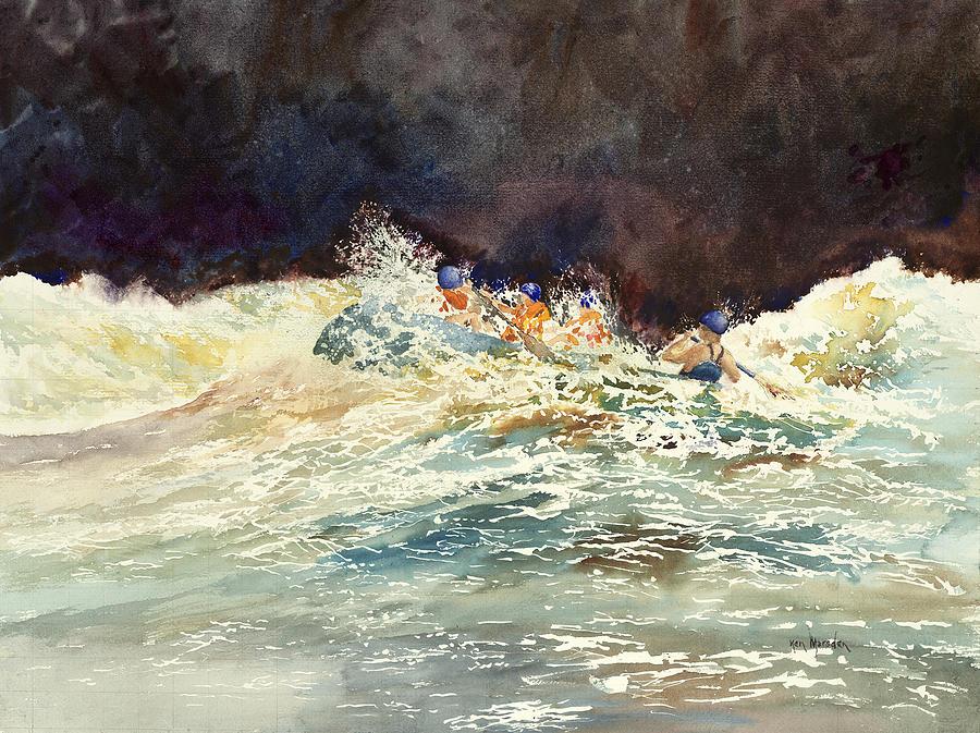 Whitewater Raftingon the Menominee by Ken Marsden
