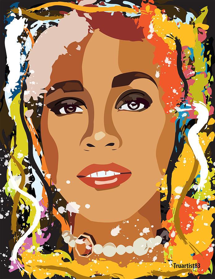 Whitney Houston Digital Art - Whitney Houston by Saheed Fawehinmi