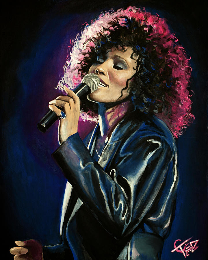 Whitney Houston Painting - Whitney Houston by Tom Carlton