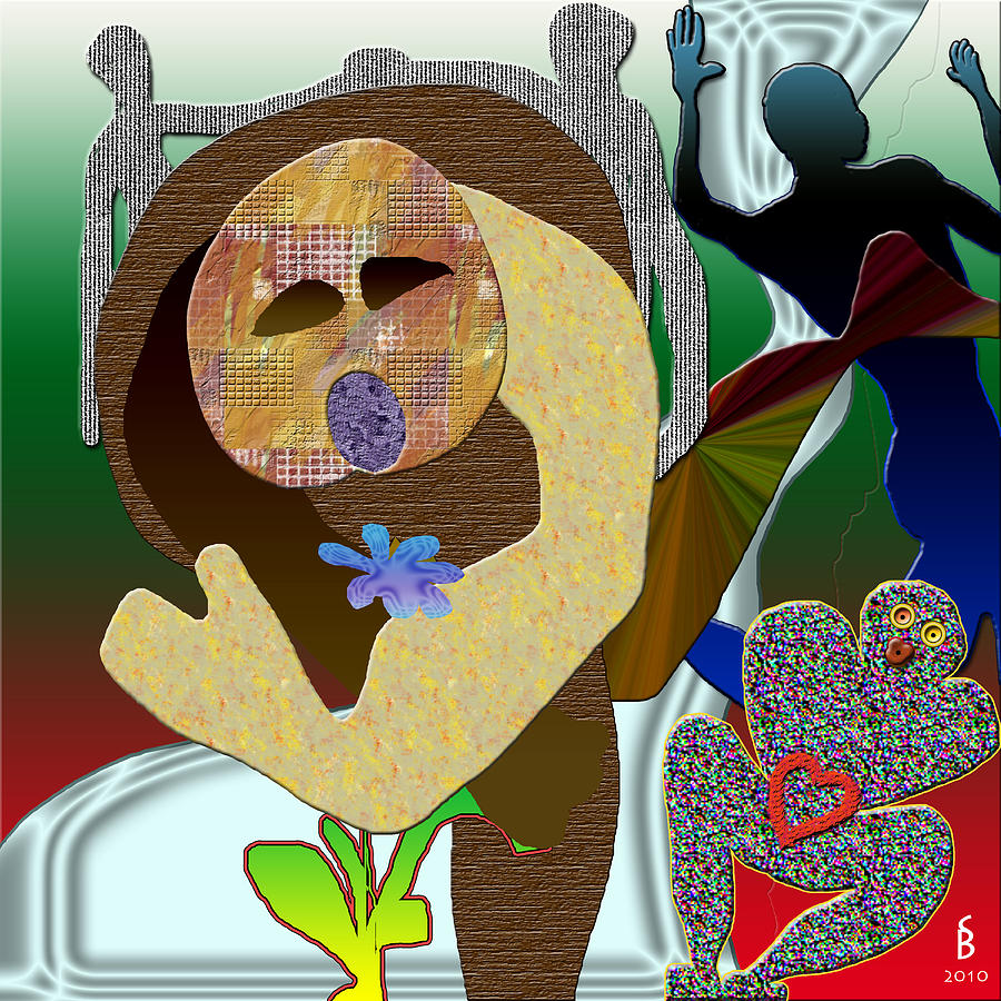 Flower Digital Art - Whitout Title by Sitara Bruns