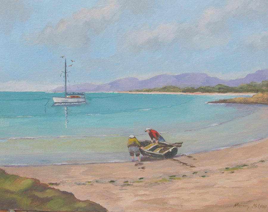 Seascape Painting - Whitsunday Sailors by Murray McLeod
