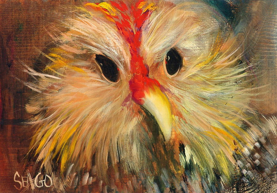 Chickens Painting - Whizzer by Sally Seago