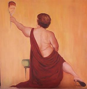 Who Am I Painting by Irene Corey
