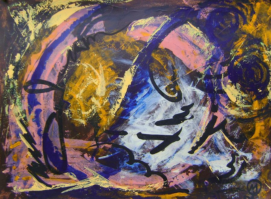 Who Am I? Painting - Who am I? by Therese Legere