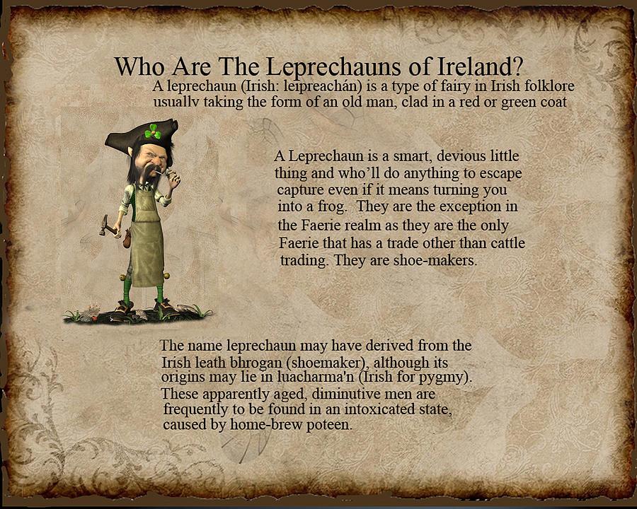 Who are the leprechyauns of ireland Digital Art by John Junek