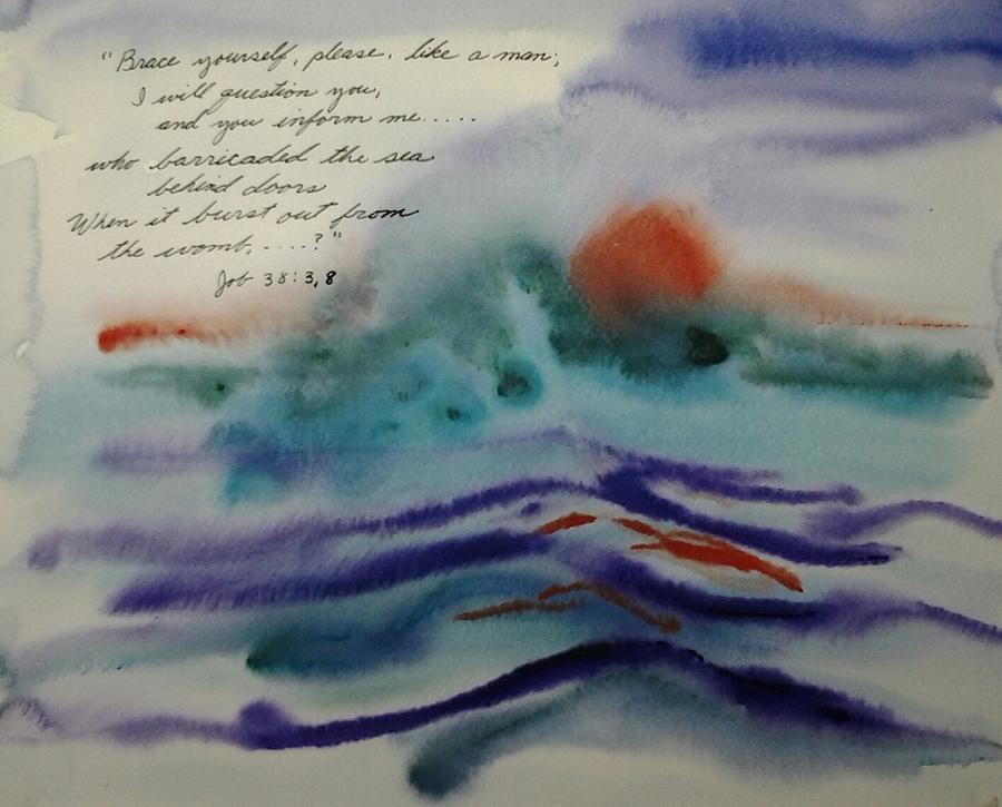 Watercolor Painting - Who Barricated the Sea? by B L Qualls
