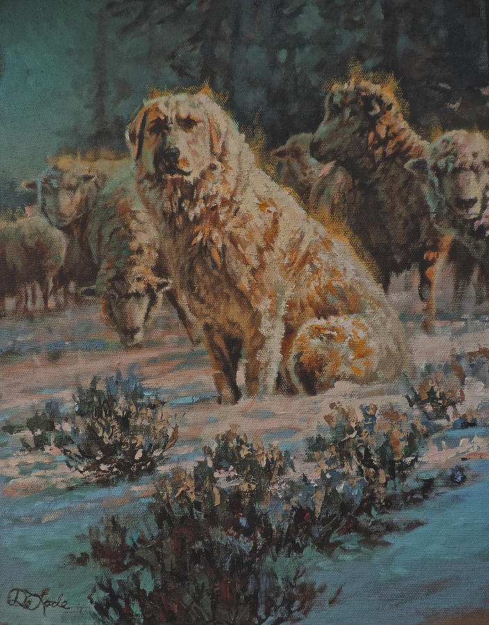 Guard Dog Painting - Who Goes There by Mia DeLode