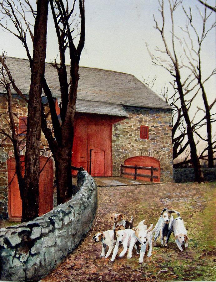 Barn Painting - Who Let The Dogs Out Who Who by Haldy Gifford