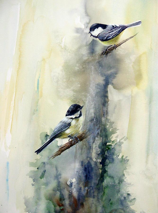 Chickadees Print - Who Says by Lynne Parker