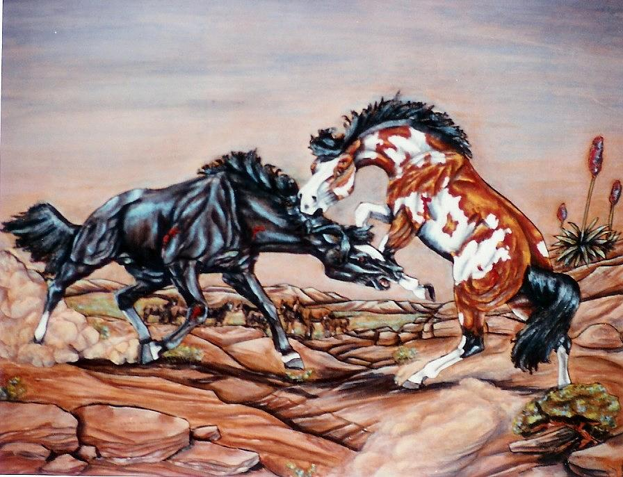Leather Painting - Who The Boss by Lilly King