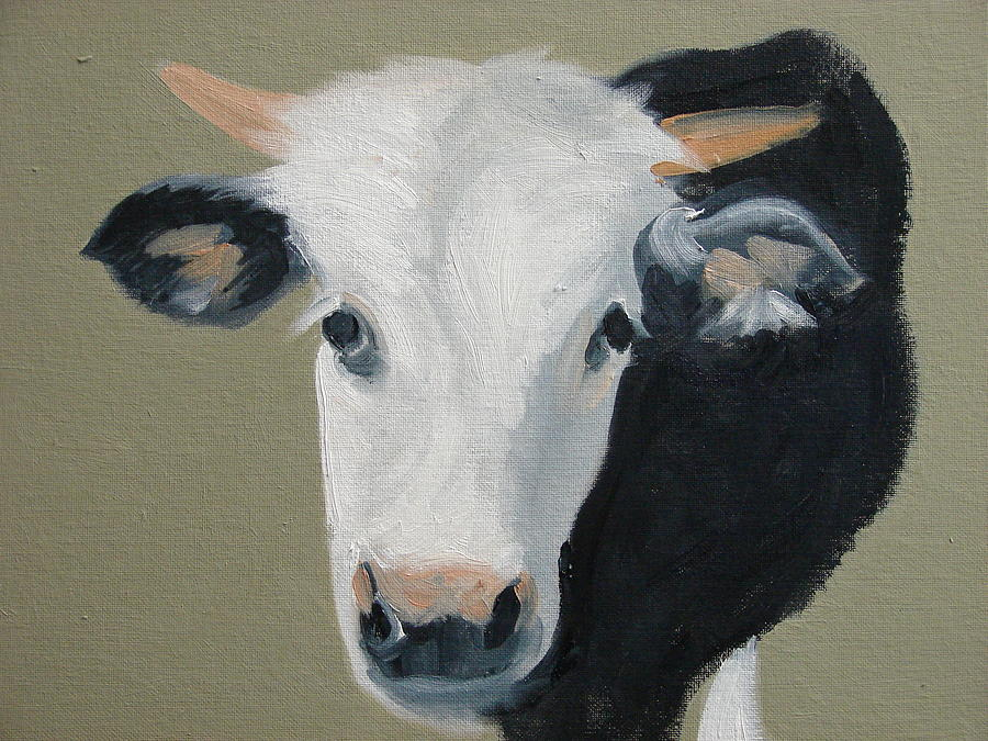 Cattle Painting - Who You Lookin At  by Robert Rohrich