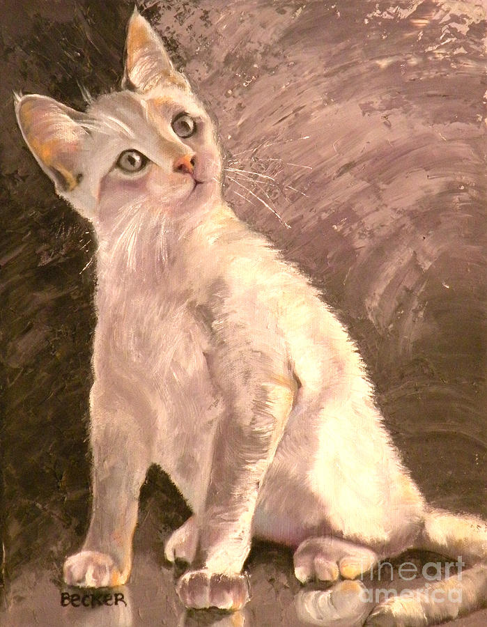 Cat Painting - Whole Lotta Lovin by Susan A Becker