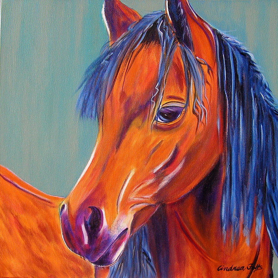 Horses Painting - Whoopi by Andrea Folts