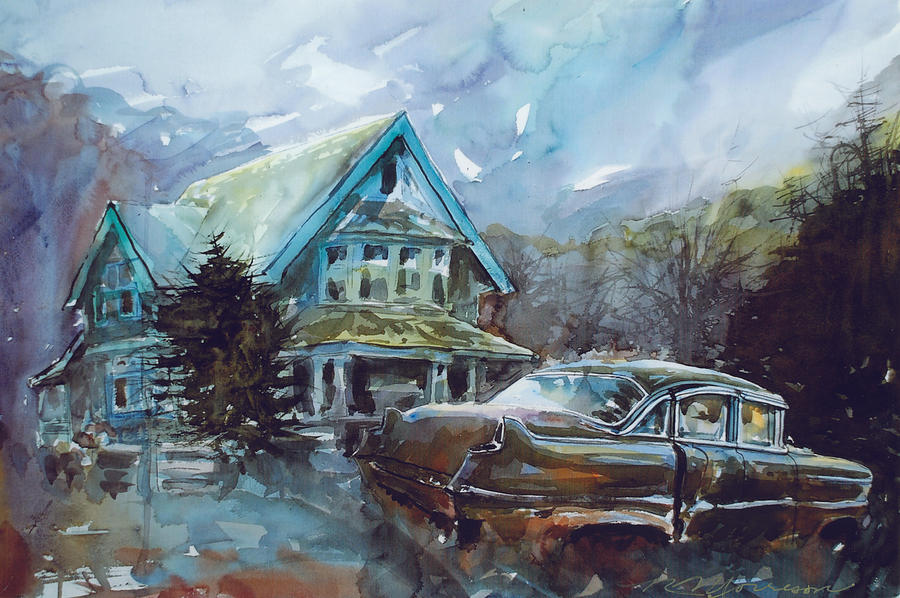 Old House Painting - Why Are We Still Here? by Ron Morrison