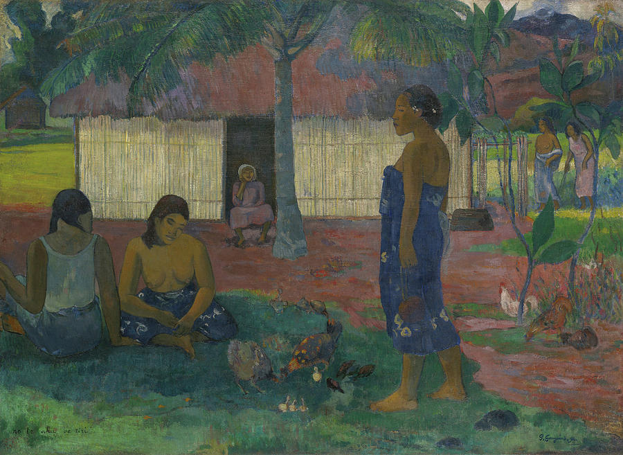 Gauguin Painting - Why Are You Angry by Paul Gauguin