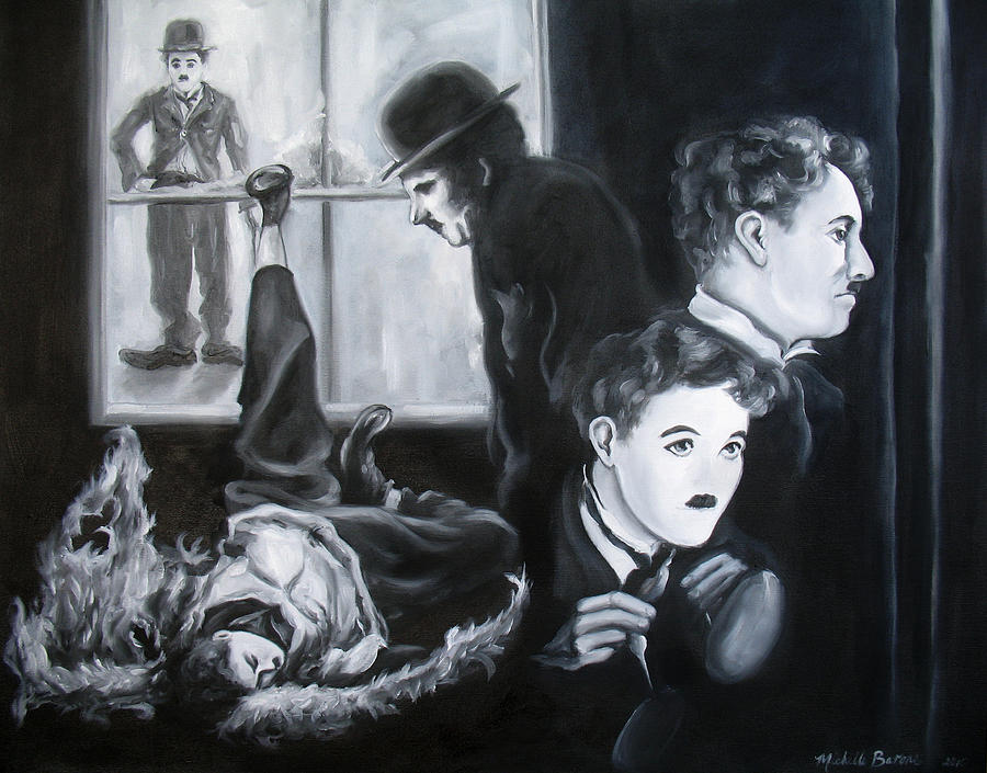 Charlie Chaplin Painting - Why Not Smile by Michelle Barone