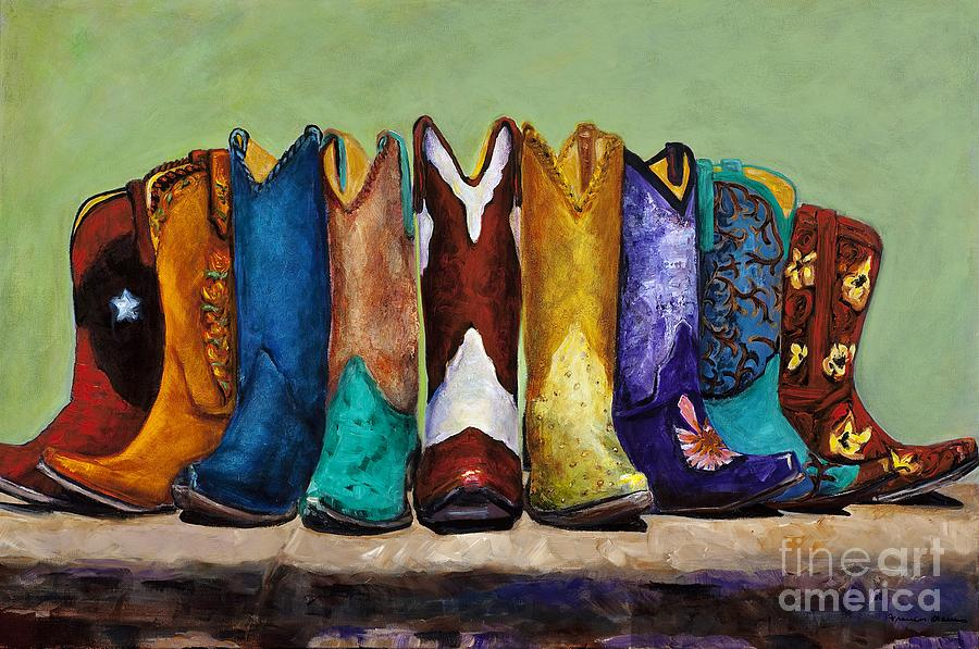 Cowboys Painting - Why Real Men Want To Be Cowboys by Frances Marino