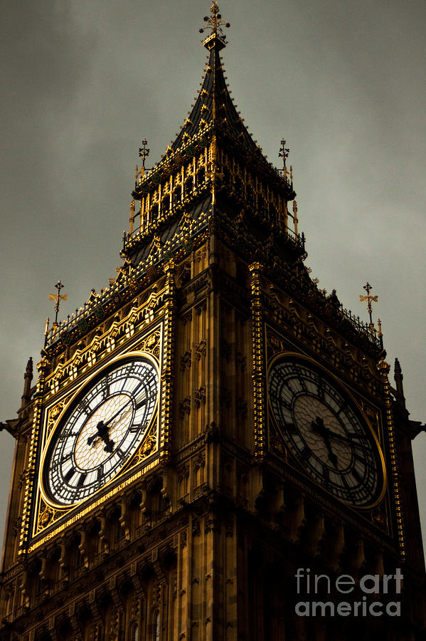 Big Ben Photograph - Wicked Division by Andrew Paranavitana