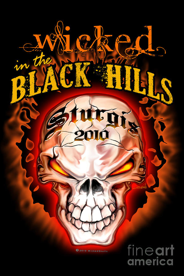Wicked Painting - Wicked In The Black Hills - Sturgis 2010 by Michael Spano