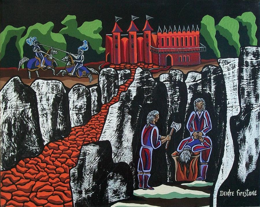 Castle Painting - Wicked Times by Deidre Firestone