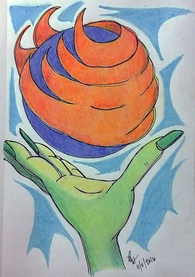 Color Pencil Drawing - Wicket Fireball by Loretta Nash