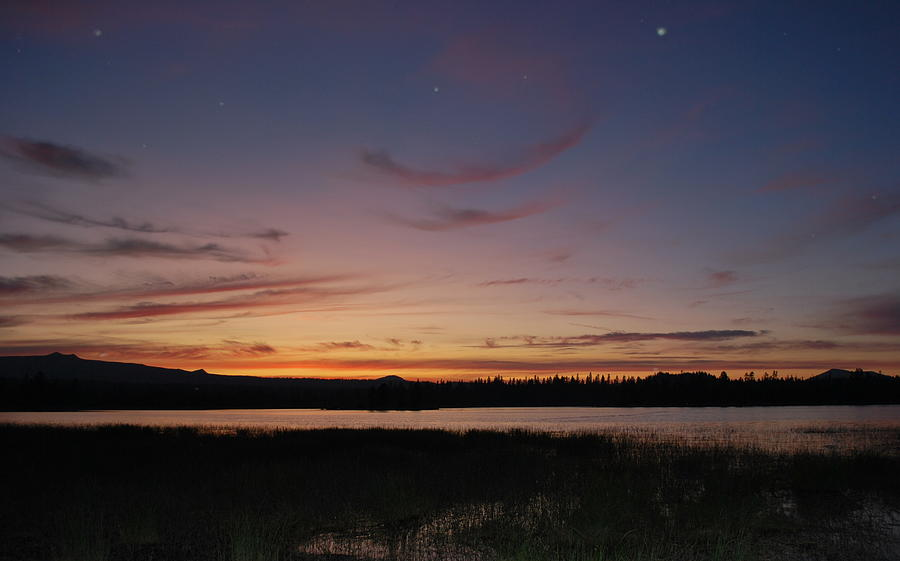 Wickiup Reservoir Photograph - Wickiup Reservoir Sunset by Two Small Potatoes