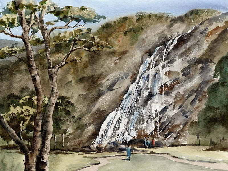 Wicklow... Powerscourt Waterfall by Val Byrne