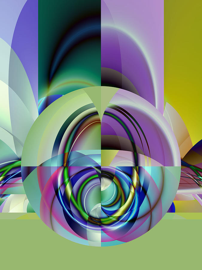 Abstract Digital Art - Wide Eye by Frederic Durville