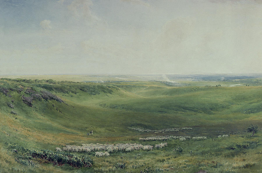 Wide Painting - Wide Pastures by Thomas Collier