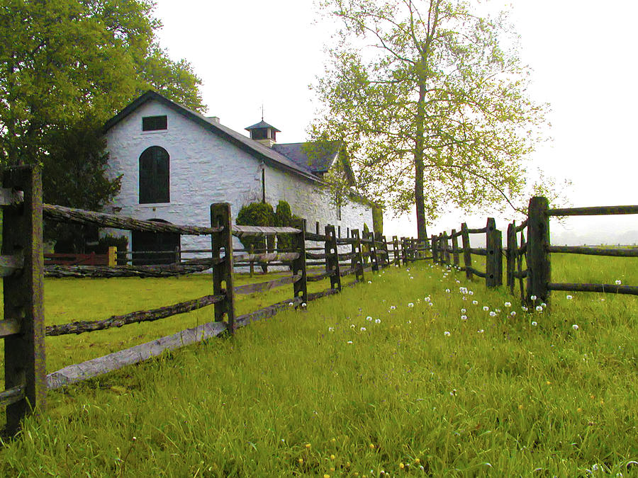 Farm Photograph - Widener Farms Horse Stable by Bill Cannon