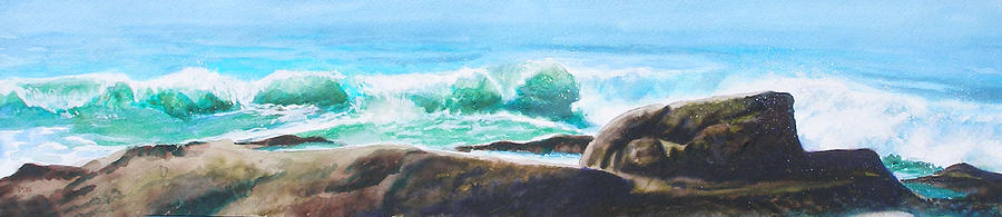 Seascape Painting - Widescreen Wave by Ken Meyer
