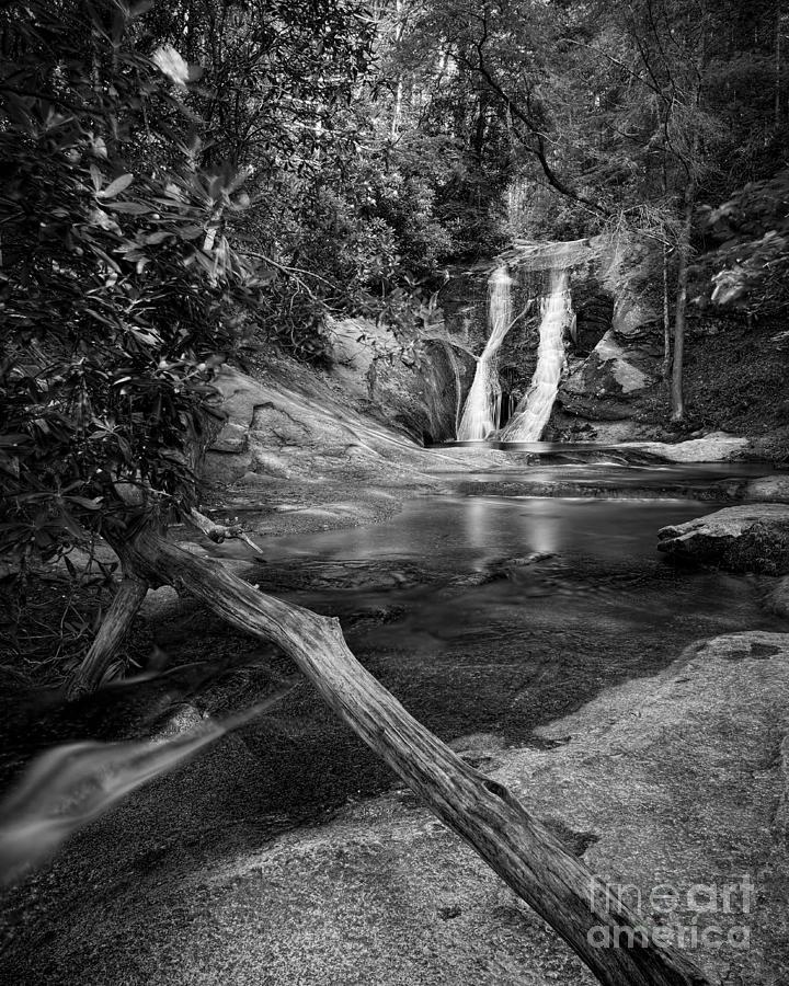 Widows Creek Falls 1 Bw Photograph