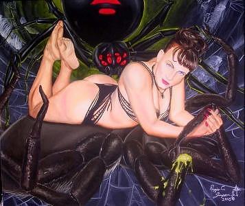 Widows Web Painting by Reggie Simpson