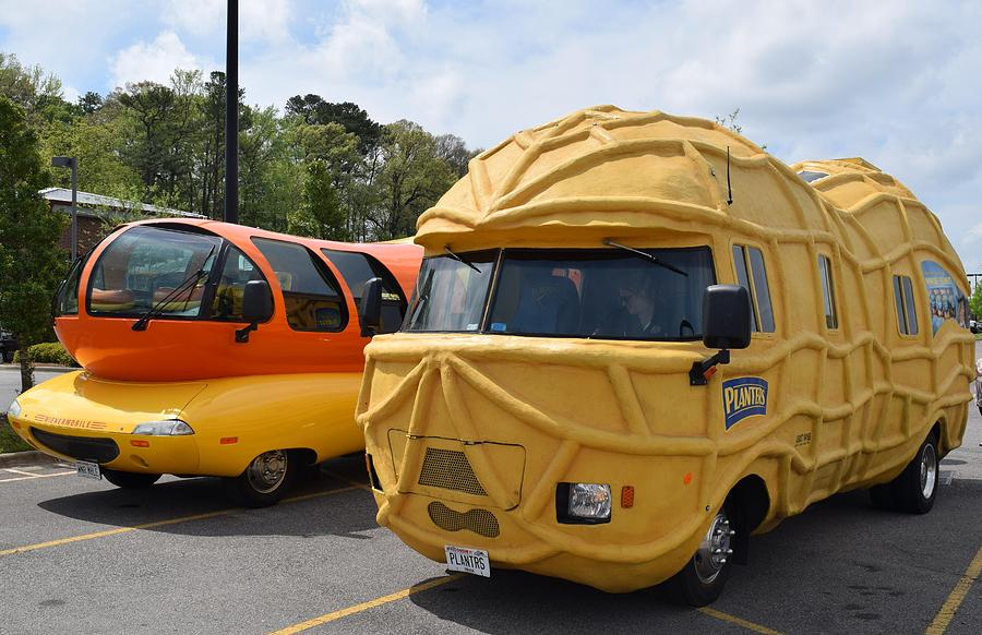 wienermobile and peanut mobile 1 photograph by timothy smith