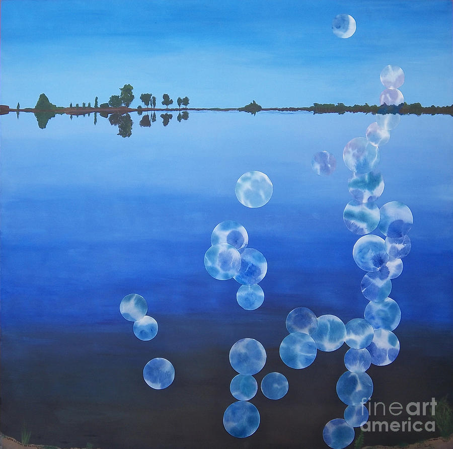 Waterscape Painting - Wiest Lake by Jeni Bate